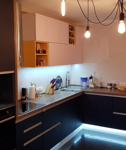 Встроенная кухня-Кухня из пластика «Модель 336»-фото9
