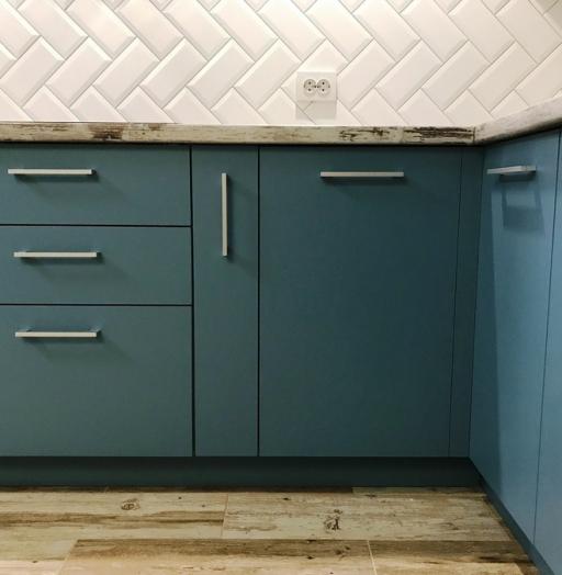 Купить голубую кухню-Кухня из пластика «Модель 373»-фото5