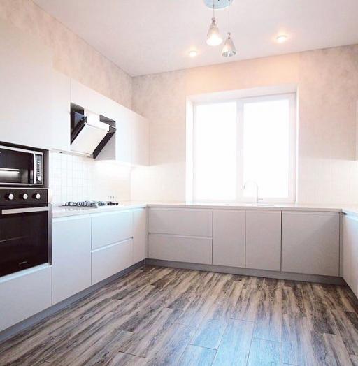 Белый кухонный гарнитур-Кухня из пластика «Модель 665»-фото5